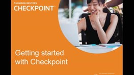 Getting Started with Checkpoint (13:39)